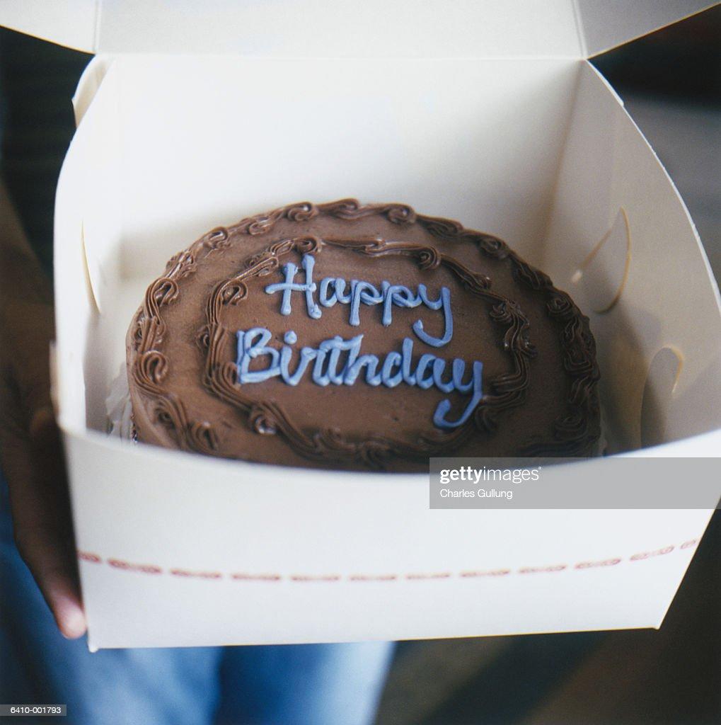 Birthday Cake in Box : Stock Photo
