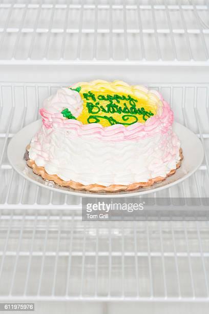 Birthday Cake in Refrigerator
