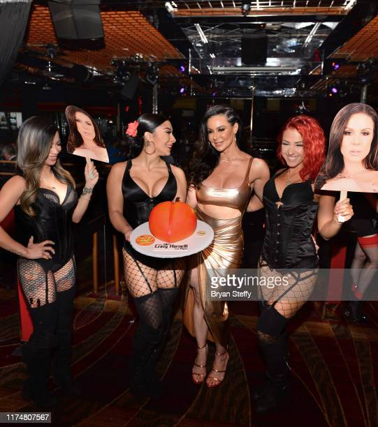 A birthday cake is presented to adult film actress Kendra Lust during her birthday party at the Crazy Horse 3 Gentlemen's Club on September 14 2019...