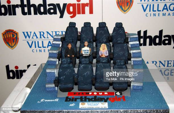 A birthday cake made for the UK gala premiere of Jez Butterworth's 'Birthday Girl' at the Warner Village Cinema in Islington London The film starring...
