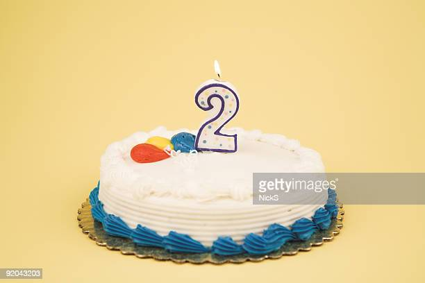 birthday cake number series (2) - number 2 stock pictures, royalty-free photos & images