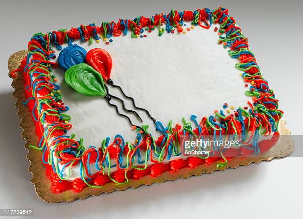 birthday cake on white - birthday cake stock pictures, royalty-free photos & images