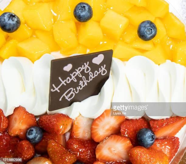 birthday cake - liyao xie stock-fotos und bilder