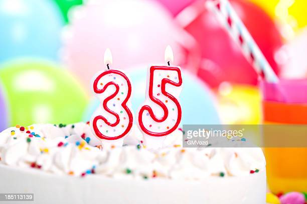 birthday cake - 35 39 years stock pictures, royalty-free photos & images