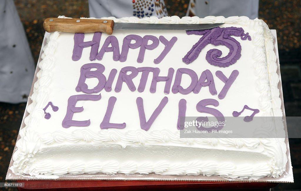 Swell A Birthday Cake To Celebrate Elvis Presleys 75Th Birthday Outside Birthday Cards Printable Inklcafe Filternl