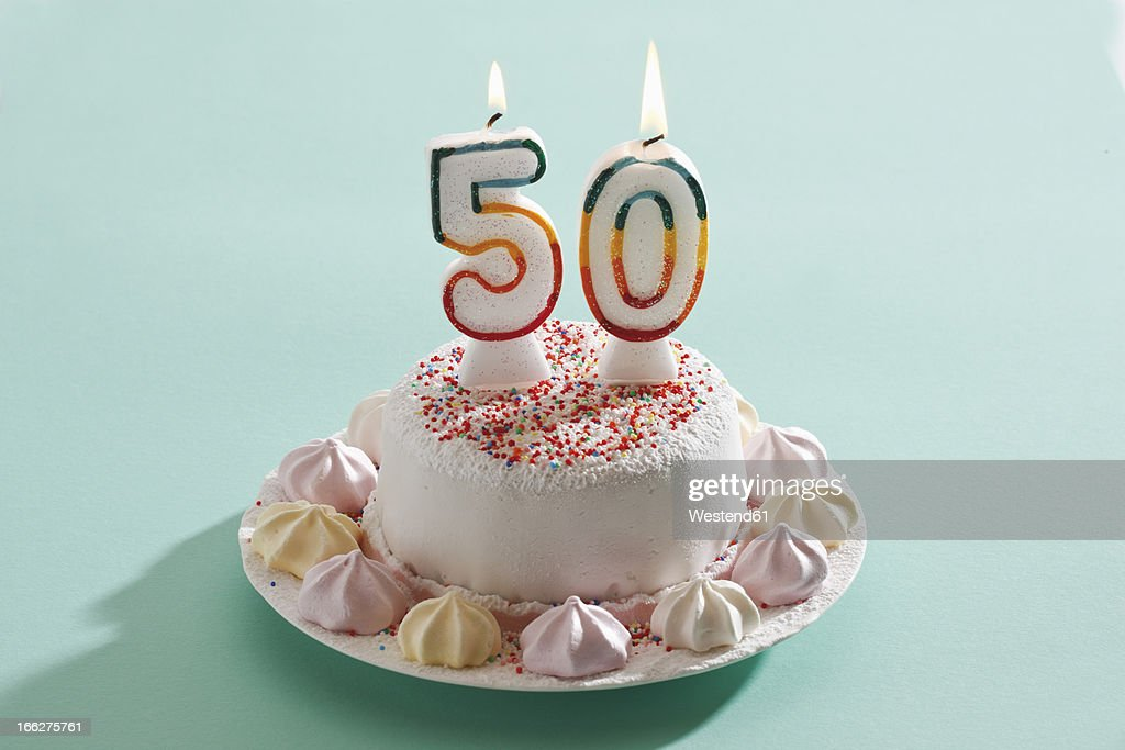 Birthday Cake With Burning Candles Stock Photo Getty Images