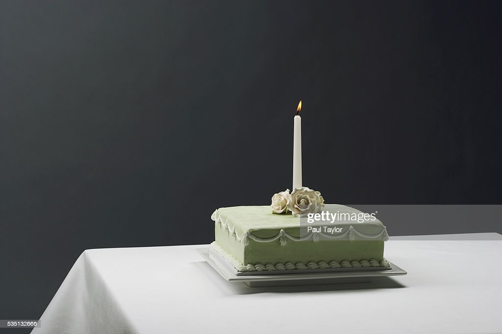 Birthday Cake With Candle Photo Getty Images