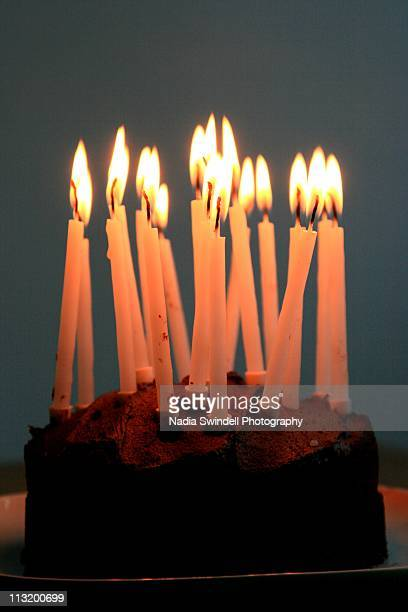 birthday cake with candles - birthday candle stock pictures, royalty-free photos & images
