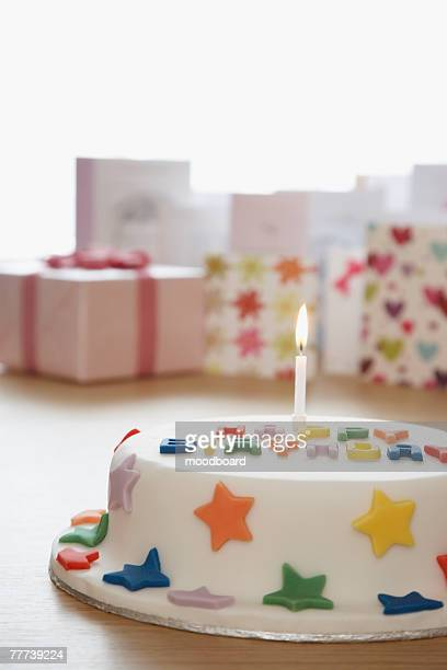 Birthday Cake with Cards and Gift