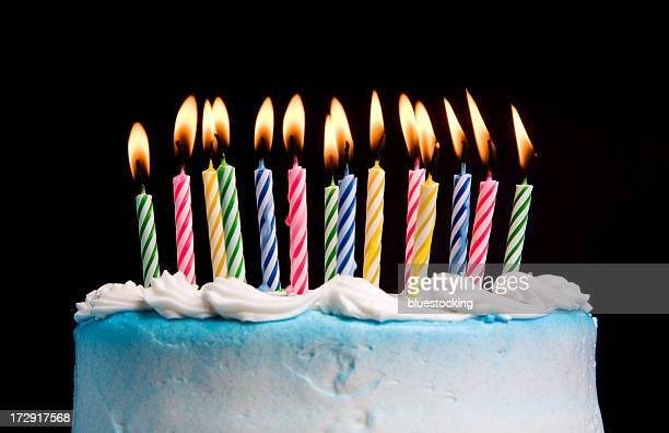 birthday candles - birthday cake stock pictures, royalty-free photos & images