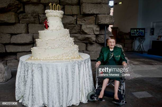 Birthday celebration for Micol Fontana who is 100 years old the last of the three sisters Fontana of the historic fashion house Celebrated in the...