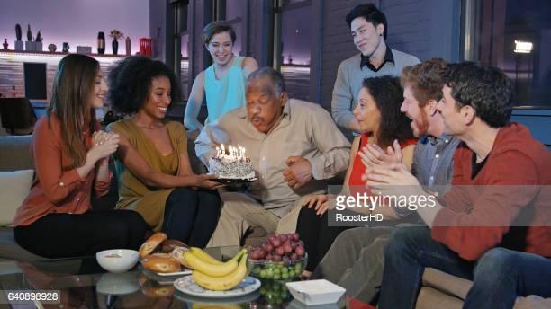 Birthday Celebration for Senior African-American Man