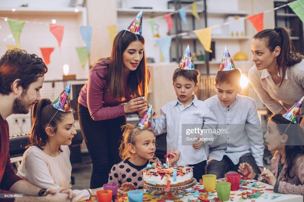 Birthday celebration fun : Stock Photo