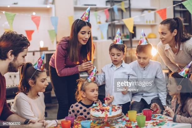 birthday celebration fun - happy birthday stock pictures, royalty-free photos & images