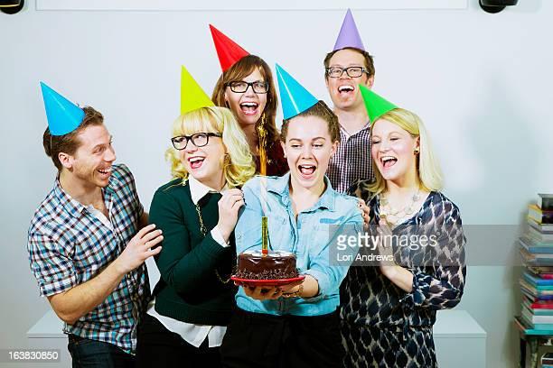 Birthday celebrations with friends