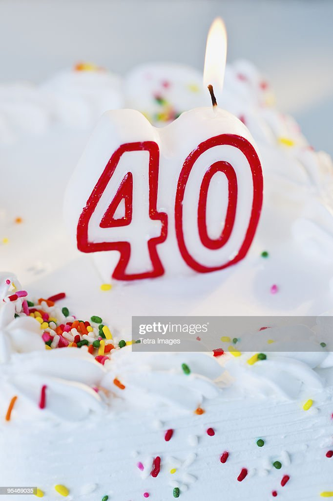 Birthday for forty years old : Stock Photo