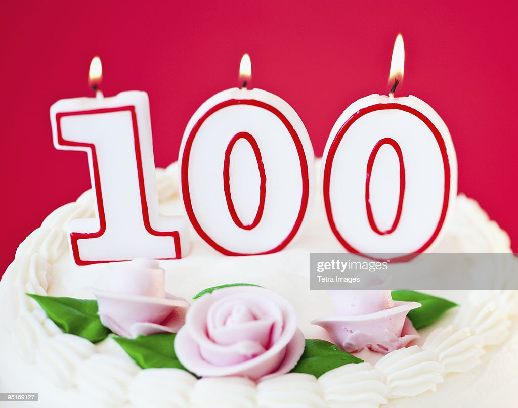 Birthday for one hundred years old : Stock Photo