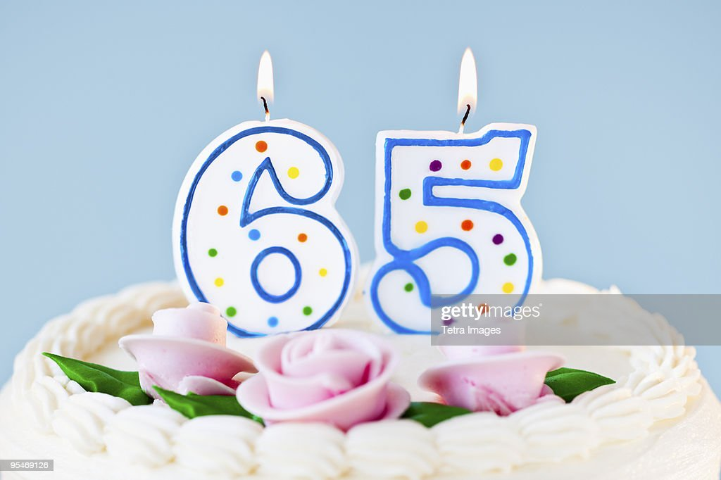 Birthday for sixty five year old : Stock Photo