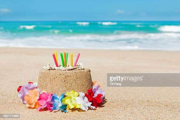 birthday gift of vacationing in tropical paradise beach hz - happy birthday stock pictures, royalty-free photos & images