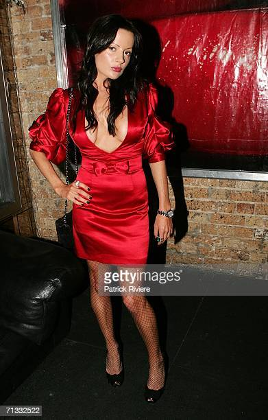 Birthday girl TV fashion stylist Kelly Smythe at her Birthday Party at Ruby Rabbit June 29 2006 in Sydney Australia