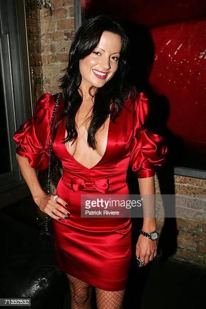 Birthday girl TV fashion stylist Kelly Smythe at her Birthday Party at Ruby Rabbit June 29 2006 in Sydney Australia