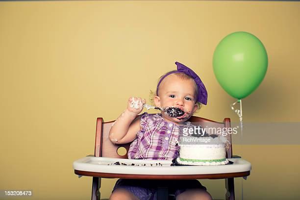birthday glutton - happy birthday vintage stockfoto's en -beelden