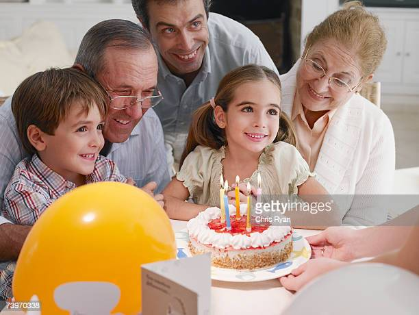 Birthday party celebration for young girl