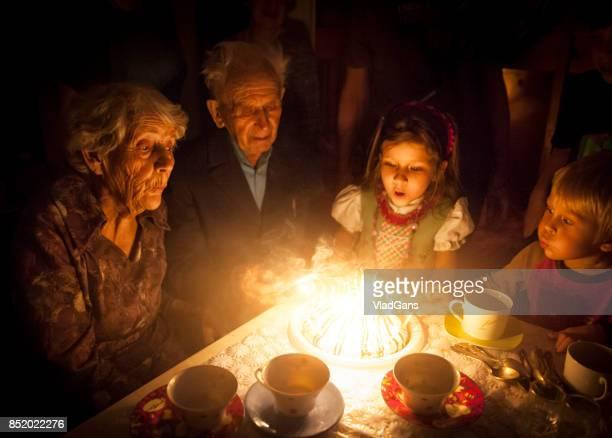 Fête d'anniversaire pour un grand-parent