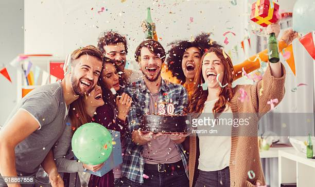birthday party in the office - birthday cake stock pictures, royalty-free photos & images