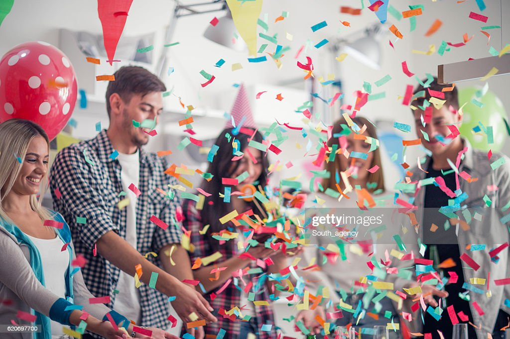 Birthday party in the office : Stock Photo