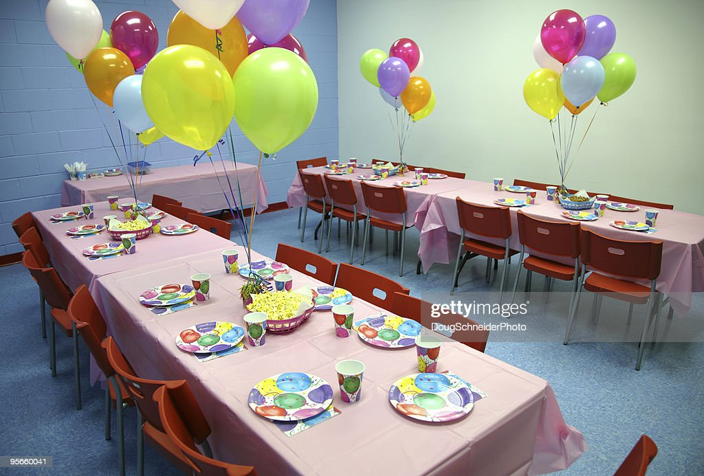Birthday Party Tables : Stock Photo