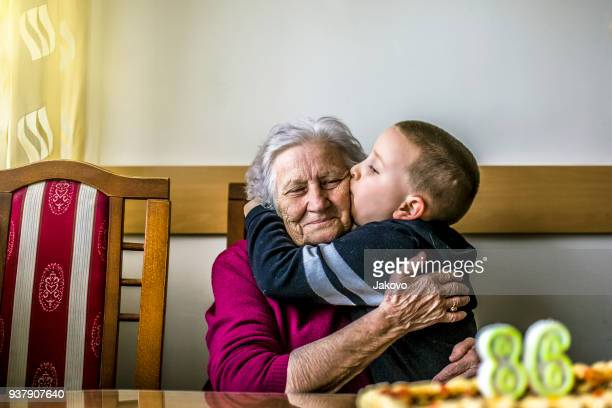 birthday - grandmother stock pictures, royalty-free photos & images