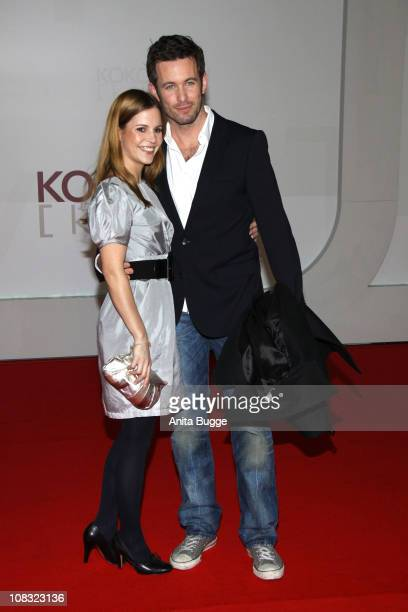 Birthe Wolter and Jan Hartmann arrive for the ''Kokowaeaeh' - Germany Premiere at the CineStar movie theater on January 25, 2011 in Berlin, Germany.