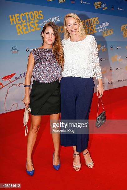 Birthe Wolter and Simone Hanselmann attend the premiere of the film 'Hector and the Search for Happiness' at Zoo Palast on August 05, 2014 in Berlin,...