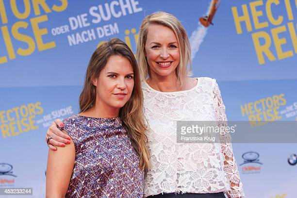 Birthe Wolter; and Simone Hanselmann attend the premiere of the film 'Hector and the Search for Happiness' at Zoo Palast on August 05, 2014 in...