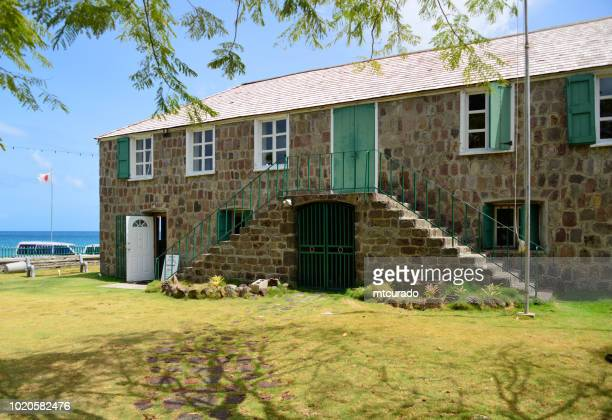 birthplace of alexander hamilton - building of the nevis island assembly, includes the history museum - charlestown, nevis island, st kitts and nevis - alexander hamilton stock pictures, royalty-free photos & images