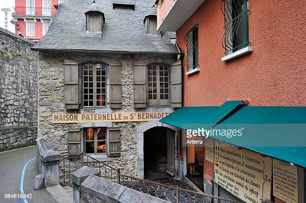 Birthplace of Bernadette Soubirous near the Sanctuary of Our Lady of Lourdes Pyrenees France