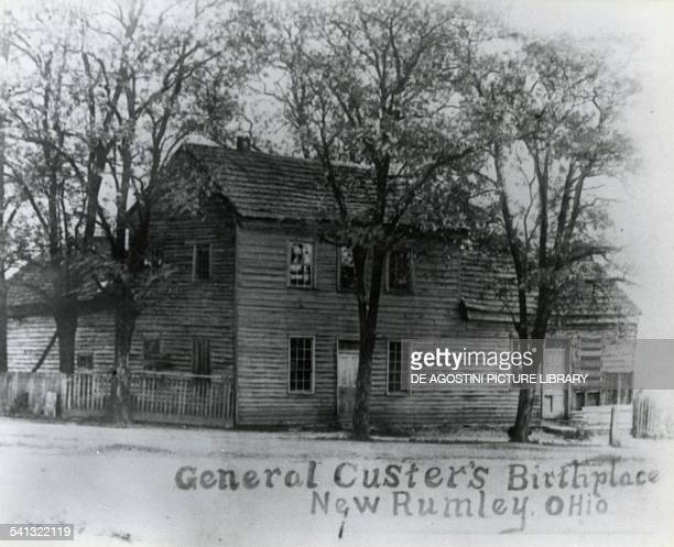 Birthplace of General George Armstrong Custer in New Rumley Ohio United States of America 19th century