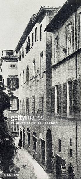 Birthplace of Giacomo Puccini in Via di Poggio at Lucca Tuscany Italy