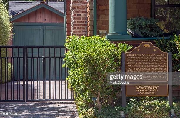 birthplace of silicon valley - birthplace of silicon valley stock pictures, royalty-free photos & images