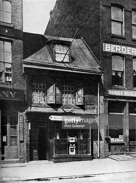Birthplace of the flag of the United States Philadelphia Pennsylvania USA c1930s No 239 Arch Street the house where Betsy Ross is said to have made...
