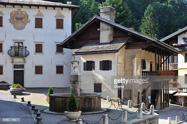 Birthplace of the painter Titian / Tiziano Vecelli / Tiziano Vecellio at Pieve di Cadore Dolomites Italy
