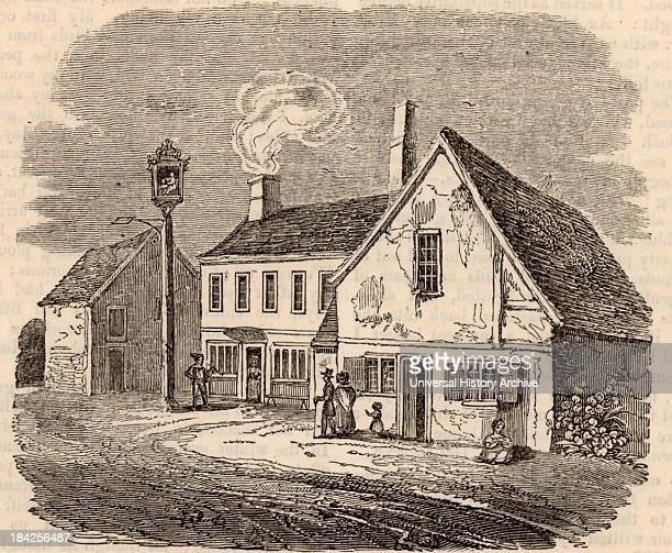 Birthplace of William Cobbett English radical and champion of the poor at Farnham Surrey Wood engraving from The Mirror