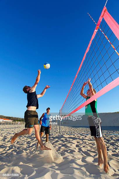 Volleyball players on the beach