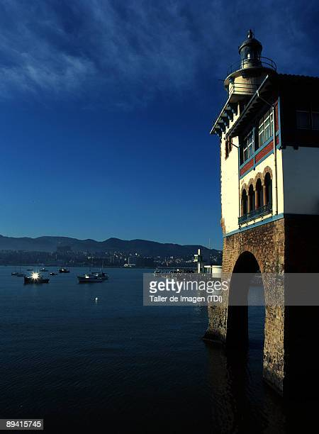 Biscay Lighthouse in the marina of Getxo Photo by Taller de Imagen /Cover/Getty Images