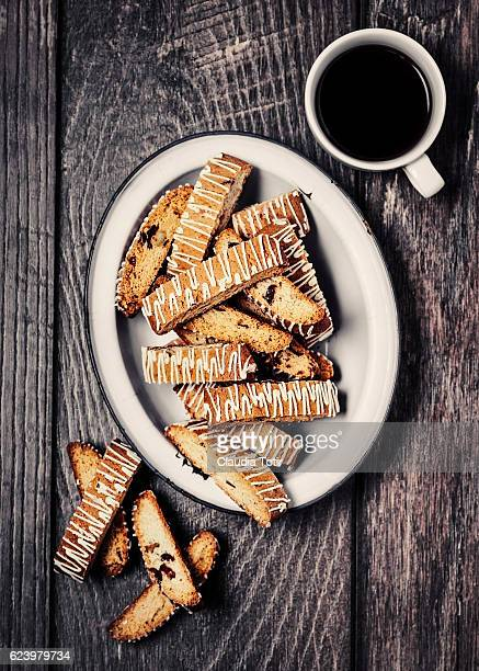 Biscotti with coffee