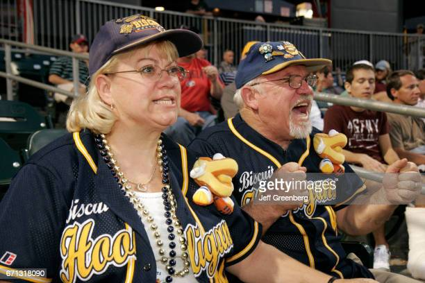 Biscuit Baseball, AA Minor League fans cheering at Riverwalk Stadium.