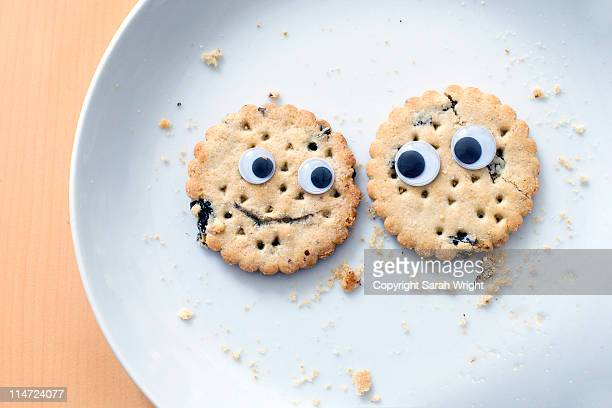biscuit buddies - anthropomorphic stock pictures, royalty-free photos & images