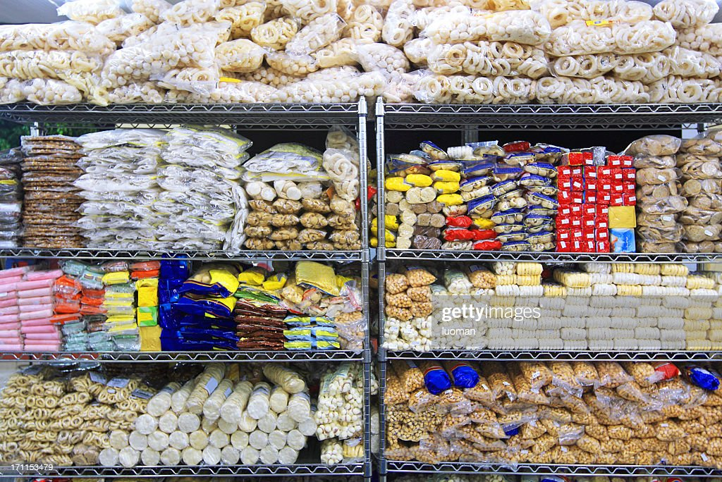 Biscuits in a supermarket : Stock Photo
