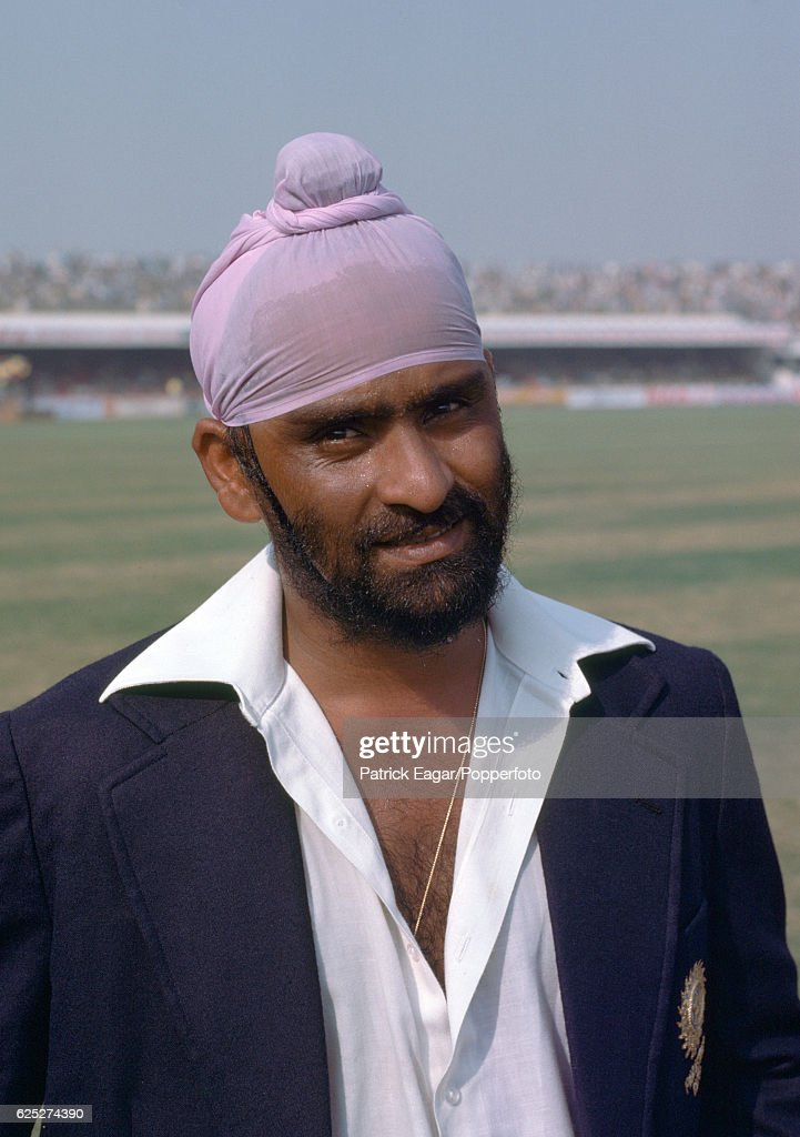 Bishan Bedi of India during the 2nd Test match between Pakistan and India at the Gaddafi Stadium Lahore Pakistan 27th October 1978